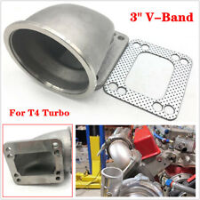 "3"" Vband for T4 Turbo Cast 304 Stainless Steel 90 Degree Elbow Adapter Flange 1x"