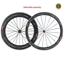 SUPERTEAM Carbon Wheels Biycle Front 50 Rear 80mm Clincher Wheelset Alloy Brake
