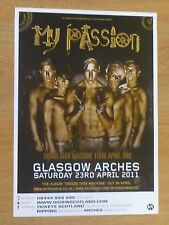 My Passion - Glasgow april 2011 tour concert gig poster