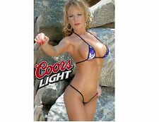 Coors Light Beer Girl In Blue Bikini Refrigerator / Tool Box Magnet