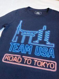 Team USA 2020 Summer Olympics Tokyo Night T-Shirt (Youth Small, 8) Dark Navy