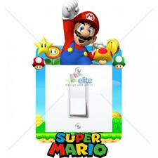 SUPER MARIO LIGHT SWITCH SURROUND STICKER DECAL KIDS BOYS GIRLS BEDROOM