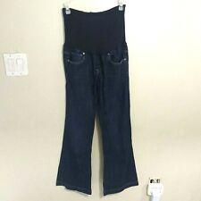 Gap Maternity Wide Leg Jeans Womens size 28 Long & Lean Dark Blue