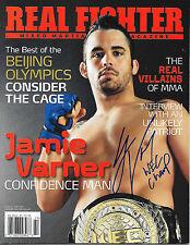 JAMIE VARNER AUTOGRAPHED REAL FIGHTER MMA MAGAZINE- 2008 NOV/DEC    UFC WEC