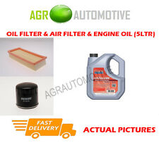 PETROL OIL AIR FILTER KIT + FS 5W40 OIL FOR FIAT PANDA 1.2 60 BHP 2003-12