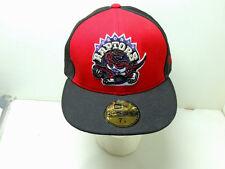 EUC Toronto Raptors NBA New Era 59 Fifty Fitted Hat Cap Size 7 1/8 Hardwood Clas
