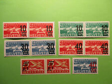 Switzerland Helvetia 1932- 45 Early Issues MNH Pairs & 1 Single