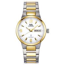 Meister Anker Armbanduhr Funk Uhr Titan matt zweifarbig Datum Faltschließe Neu