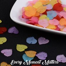 50 x FROSTED LUCITE ACRYLIC LEAF  BEADS 14mm ASSORTED COLOURS