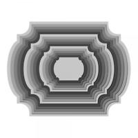 Black Pack Of 5 Music Circle Frame Die Cuts