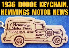 1936 DODGE HUMPBACK PANEL TRUCK HEMMINGS KEY RING FOB ● VINTAGE KEYCHAIN KEYRING