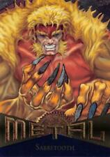 SABRETOOTH / Marvel Metal (1995 Fleer Corp.) BASE Trading Card #115