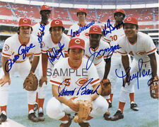 THE BIG RED MACHINE SIGNED PETE ROSE JOHNNY BENCH CONCEPCION 8x10 REPRINT PHOTO