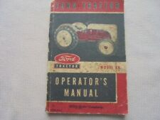 Original Ford Tractor Operators Manual Model 8N 1952