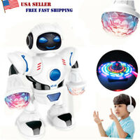 Toys for Kids Toddler Walking Dancing Robot Music LED Light Electronic Xmas Gift