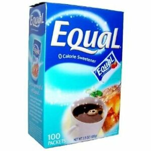 Equal Artificial Sweetener Packets - 100 Packets + Makeup Sponge