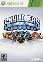 Skylanders Spyro's Adventure Xbox 360 Kids Game Replacement No Portal/character