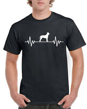 Heart Beat Rate Pulse American Staffordshire Terrier Dog Gift Unisex T Shirt