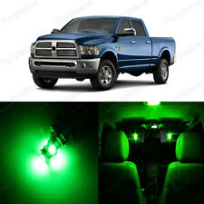 10 x Super Green LED Interior Light Package For Dodge Ram 1500 2500 2002 - 2011