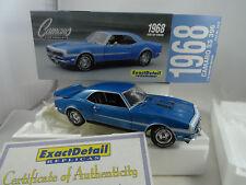 1:18 Exacto Detalle #221C Duro Top 1968 Chevrolet Camaro Ss 396 Skyblue Rareza§