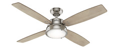 """Hunter 52"""" Wingate Brushed Nickel Ceiling Fan w/Tunable LED Light Kit and Remote"""