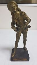 "A CAST AND GILDED BRONZE FIGURE OF 'FIGARO' SIGNED BOURET 8.5"" / 21.6CM"