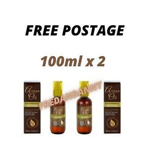 Argan Oil Hair Treatment with Moroccan Argan Oil Extract. 100 ml X 2 Bottles
