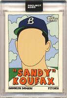 SANDY KOUFAX TOPPS PROJECT 2020 FUCCI #76 1955 W/ BOX IN HAND DODGERS PR 6607 🔥