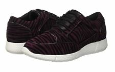 Just Cavalli women's dark red leather sneakers size 37 (4UK) - Made in Italy