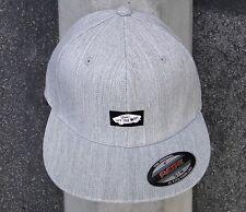 Vans Skateboard Gray Heel Unisex Mens Flexfit Snapback Hat Size Sml/Med
