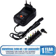 Universal Netzteil AC/DC 3V 4,5V 5V 6V 7,5V 9V 12V 2100mA +6 Stecker 110-240V