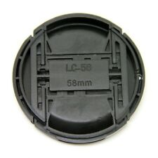 58mm Center Pinch Snap on Front Lens Cap Cover with String for Canon Nikon Sony