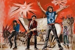 Rolling Stones Ronnie Wood Hand Signed 'Bigger Bang' Limited Edition Print
