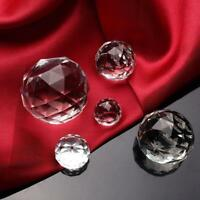 Crystal Clear Ball Faceted Cut Glass Giant Diamond Jewelry Decor Craft
