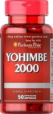 Puritan's Pride Yohimbe Male Sexual Health 2000 mg / 50 Capsules FREE SHIPPING