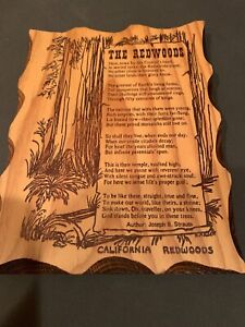 """The REDWOODS"" Wood Wall Plaque, Made from Real California Redwood"