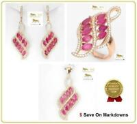 14.8 ct Ruby Ring, Earrings, Silver Pendant & Necklace Set