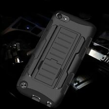 Rugged Armor Hybrid Case Hard Cover Clip Holster For Apple iPod Touch 5th 6 Gen