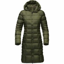 The North Face Women's METROPOLIS II Parka 550 Down Trench Coat Jacket Green M