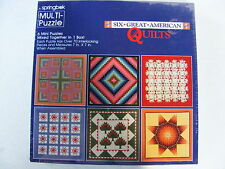 Hallmark Springbok Multi-Puzzle Six Great American Quilts 7 x 7 over 70 pc. ea.
