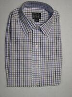 $87.50 Jos A Bank Traveler white check pattern sport shirt S  regular fit
