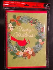 Hallmark Christmas Cards - Pack of 8 With 4 Different Designs