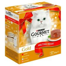 Purina Gourmet Gold Melting Heart Cat Food Meat And Fish 8 x 85g