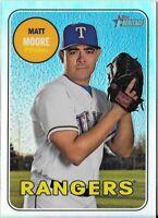 Matt Moore 2018 Topps Heritage High Number CHROME REFRACTOR /569 Rangers