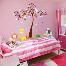 Wandtattoo Wandsticker Aufkleber Tiere Eule Sticker Baum Kinderzimmer XXL Baby