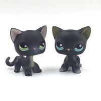 LITTLEST PET SHOP LPS#336 black cat pink nose g//b eyes