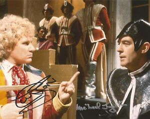 Colin Baker and Michael Jayston Dr Who hand signed photo UACC & AFTAL Dealer