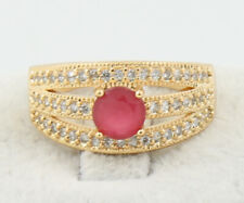 Engagement Bands Jewelry for man 7.5# a8 Simple Ruby 14K Yellow Gold Filled Ring