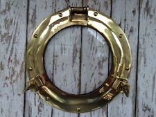 "11"" Brass Porthole Glass ~ Nautical Maritime Wall Decor ~ Ship Cabin Window"