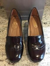 Hotter Follie Brown Leather Shoes Size 4